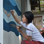 Puluhan Mahasiswa Kolaborasi Perbaiki Puhsarang