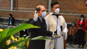 Pelantikan Kuncoro Foe sebagai Rektor UKWMS di Auditorium Benedictus