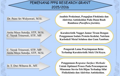Pemenang PPPG Research Grant 2015/2016