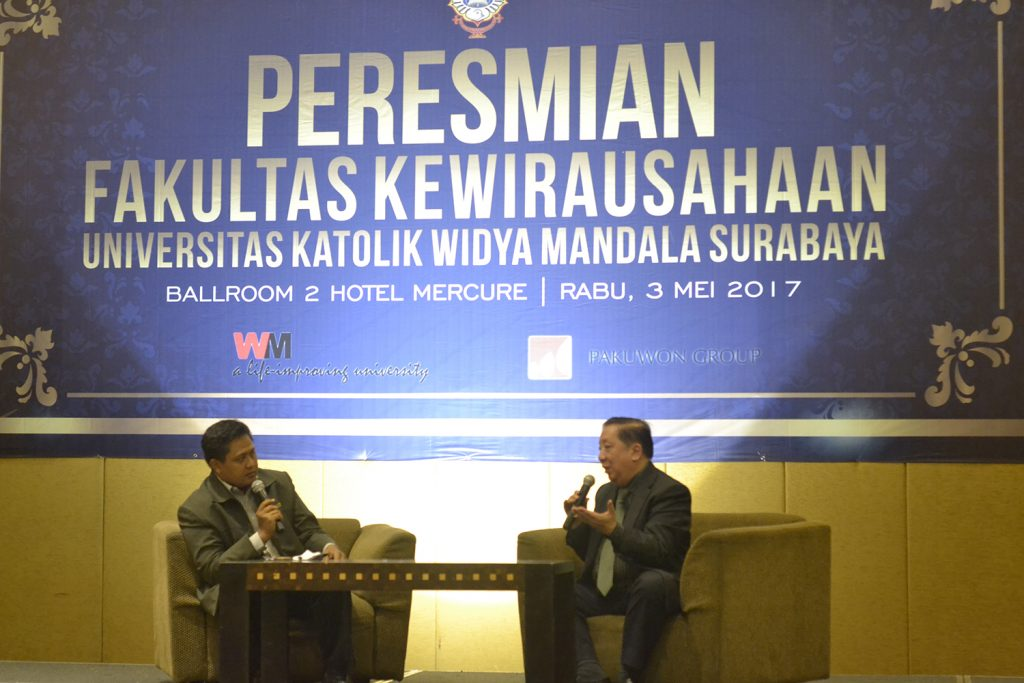 Stefanus Riwdwan Suhendra saat talk show Start Up Business