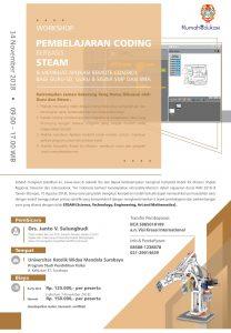 Workshop Pembelajaran Coding Berbasis STEAM 14 Nov 2018 Fisika UKWMS